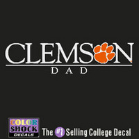 Clemson Tigers Colorshock Decal