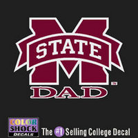 Mississippi State Bulldogs Colorshock Decal