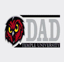 Temple Dad with Mascot Colorshock Decal