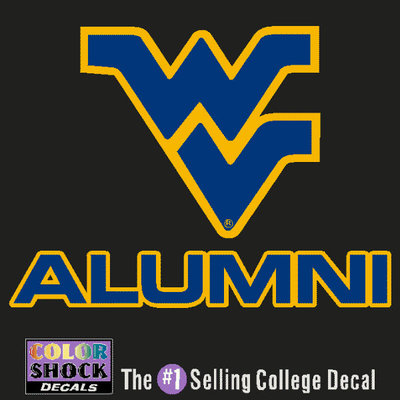 WVU-Downtown Mountainlair Bookstore - WVU Mountaineers Colorshock Alumni Decal
