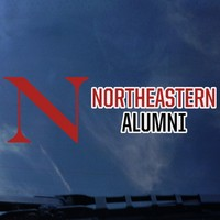 Northeastern Huskies Colorshock Alumni Decal