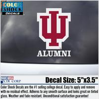Indiana Hoosiers Colorshock Alumni Decal