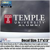 Temple Colorshock Alumni Decal