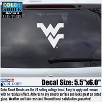 WVU Mountaineers Oversized ColorShock decal