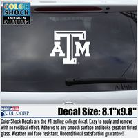 Texas A&M Aggies Oversized ColorShock decal