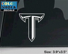 Troy University Color Shock Mascot Decal