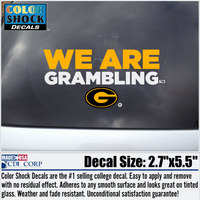 Grambling State Tigers Color Shock Wordmark Decal