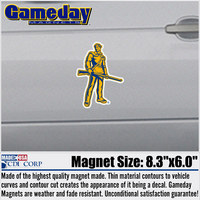 WVU Mountaineers Car Magnet
