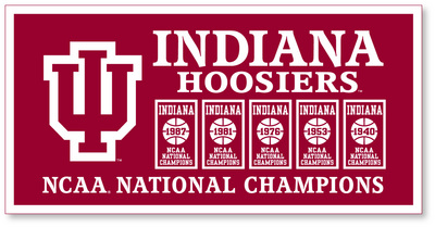 NCAA Mens Basketball National Champs 18x36 Banner