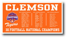 National Champs 18x36 Banner