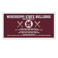 Mississippi State Bulldogs Horizontal Multi Color Sport Logo Banner from Collegiate Pacific