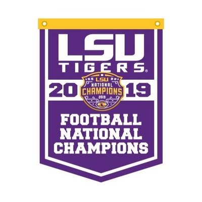 National Champions 18x24 Rafter Banner