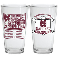 College World Series National Champions 16 oz Mixing Glass