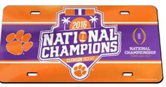 National Champs Mirror License Plate