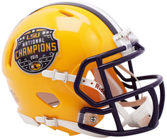 National Champion LSU Speed Mini Helmet
