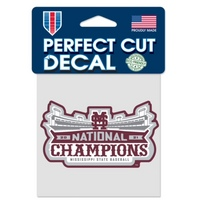 College World Series National Champions 4 x 4 Perfect Cut Decal