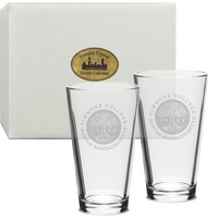 Set of 2 Etched 16 oz Pint Glasses (Online Only)