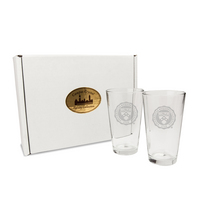 Set of 2 Etched 16 oz Pint Glasses