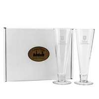 Set of 2 Etched 16 oz Pilsner Beer Glass (Online Only)