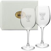 Set of 2 Etched 19 oz Red Wine Glasses
