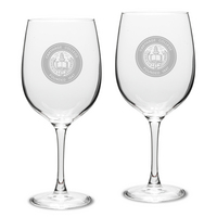 Set of 2 Etched 19 oz Red Wine Glasses (Online Only)