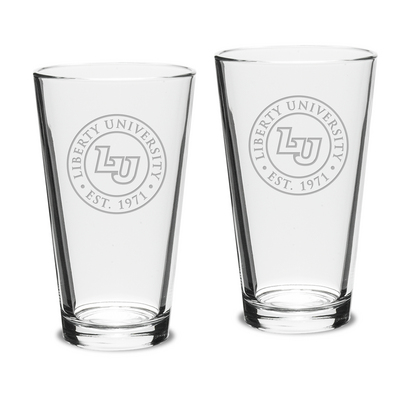 Set of Two 16 oz. Glass