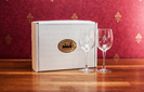 Crystal Set of Two White Wine Glasses in Display Box