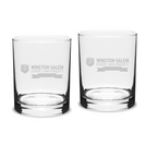 Crystal Set of Two Double Old Fashion Glass