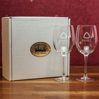 Crystal Set of Two Red Wine Glasses in Display Box