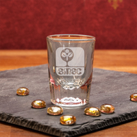 Crystal Fluted Anniversary Shot Glass