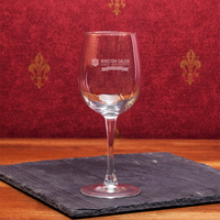 Crystal Anniversary White Wine Glass