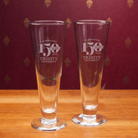 Set of 2 Pilsner Glass 16 oz Anniversary