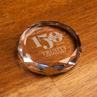Crystal Faceted Paper Weight with Gift Box