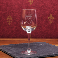 Emory Eagles Campus Crystal Classic Wine Glass