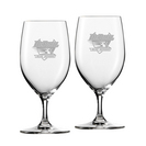 Set of 2 Etched 17.5 oz Riedel Bar Footed Beer Glass (Online Only)