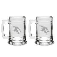 Set of 2 Etched Beer Tankard Glasse (online only)