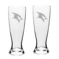 Set of 2 Etched Pilsner Glasses (online only)