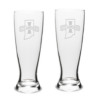 Set of 2 Etched 23 oz Pilsner Glasses (Online Only)