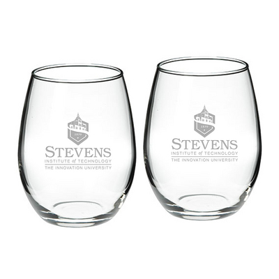 Set of 2 Etched 21 oz Stemless Red Wine Glasses (Online Only)