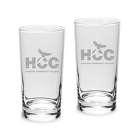 Set of 2 Etched Highball Glasses (online only)