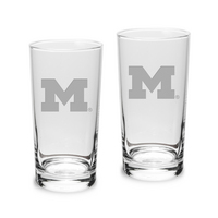 Set of 2 Etched Highball Glasses