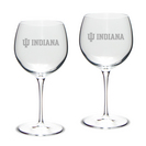 Set of 2 Etched 18 oz Luigi Bormioli Red Wine Glasses (Online Only)