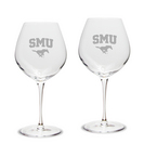 Set of 2 Etched 22 oz Luigi Bormioli Robusto Wine Glasses (Online Only)