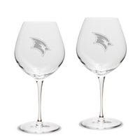 Set of 2 Etched Luigi Bormioli Robusto Wine Glasses (online only)