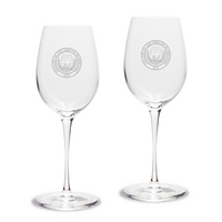 Set of 2 Etched 12 oz Luigi Bormioli White Wine Glasses (Online Only)
