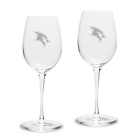Set of 2 Etched Luigi Bormioli White Wine Glasses (online only)