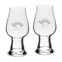 Set of 2 Etched Luigi Bormioli IPA Beer Glasses (online only)