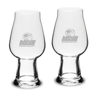 Set of 2 Etched 18.25 oz Luigi Bormioli IPA Beer Glasses