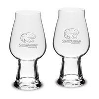 Set of 2 Etched Luigi Bormioli IPA Beer Glasses