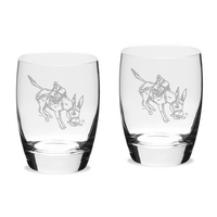 Set of 2 Etched 15.75 oz Luigi Bormioli Water Glasses (Online Only)